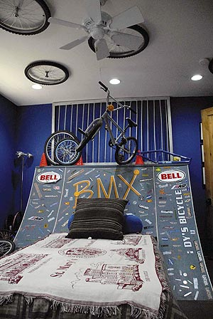 Garrett Yazzie S Bedroom Is Decorated With His Bmx Bike And Tires In The New Home Built By The Extreme Makeover Crew Times Photo Paul Natonabah