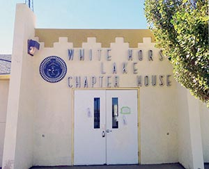 Whitehorse Lake Chapter's art deco chapter house looks like something from the early 1900s but only dates to 1975. The chapter prides itself on keeping its buildings clean.  (Times photo - Cindy Yurth)