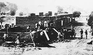 Navajos at Fort Sumner, New Mexico, in 1864.