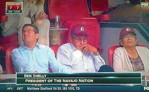 Photo of first couple sporting Redskins gear hits the Internet
