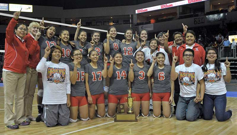 Monument Valley Lady Mustangs capture Ariz. state volleyball championships