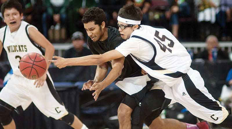 Chinle competing in Hoophall West Classic