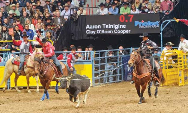 Tsinigine, Cooper place third in team roping at WNFR