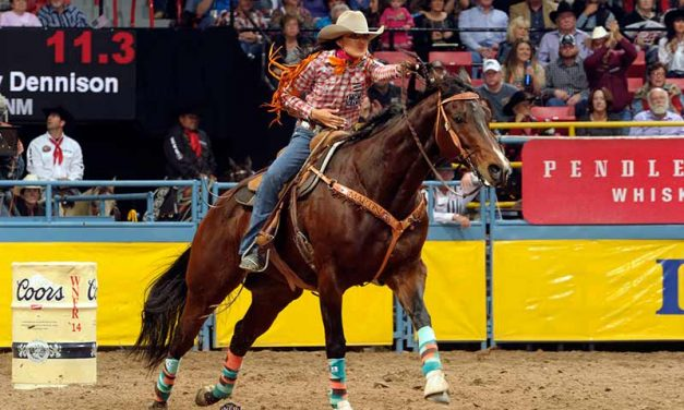 Dennison drops to 9th in barrel racing at WNFR