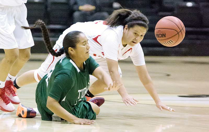 Tuba City girls holds off Mustangs