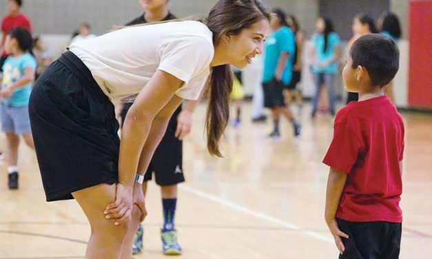 Youth council hosts basketball clinic with Jude Schimmel