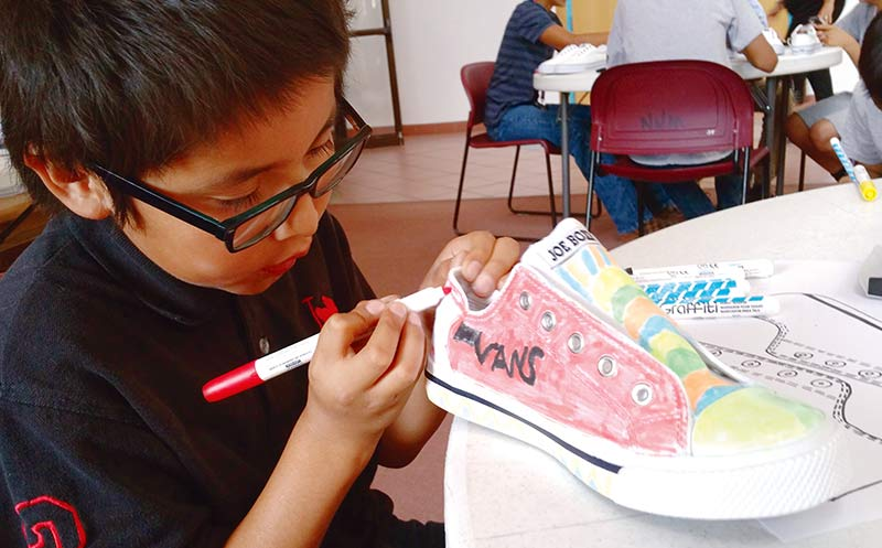 Youth get their rezzy sneaker groove on
