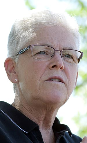 EPA Administrator Gina McCarthy speaks at a press conference Thursday morning in Farmington, N.M. (Times photo - Donovan Quintero)