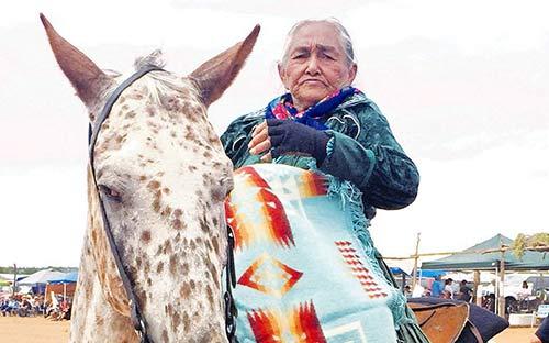 'Grandma on horseback' among elders honored at Ééhániih Day