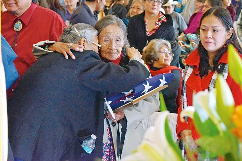 Family, friends, dignitaries honor Code Talker Alfred Peaches