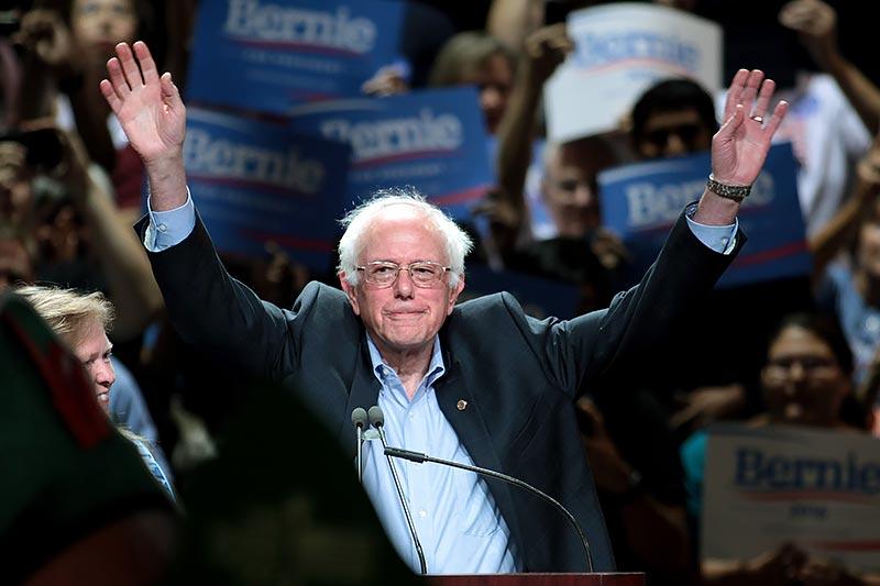 Bernie Sanders speaking at a town meeting in Phoenix, Ariz., in March 2015. (Photo by Gage Skidmore, via Wikipedia.)