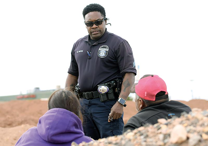 Winslow detective shows compassion  as he patrols the streets after shooting