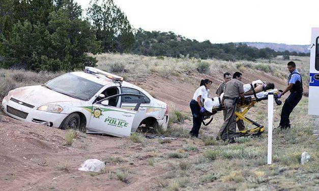 Stolen Navajo police vehicle ends in crash
