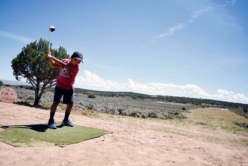 More golfers tee up at Rez tournament