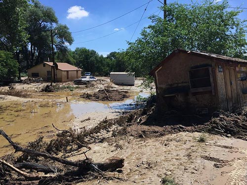shiprock flooding displaces 27 families  prompts emergency