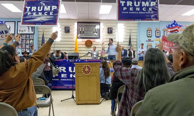 Trump Jr. holds 11th-hour rally in Shiprock