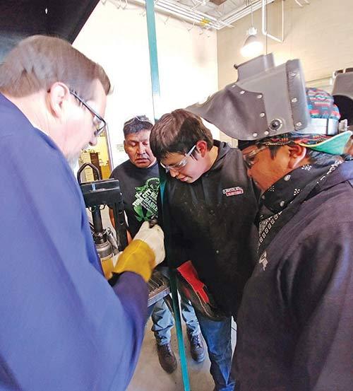 Tuba City senior learning, ready for welding school
