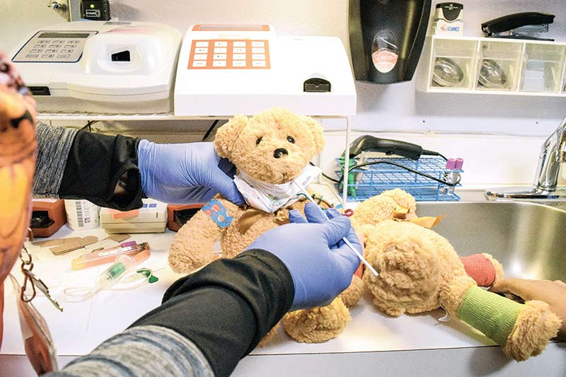 Teddy bears reach stubby paws out to community