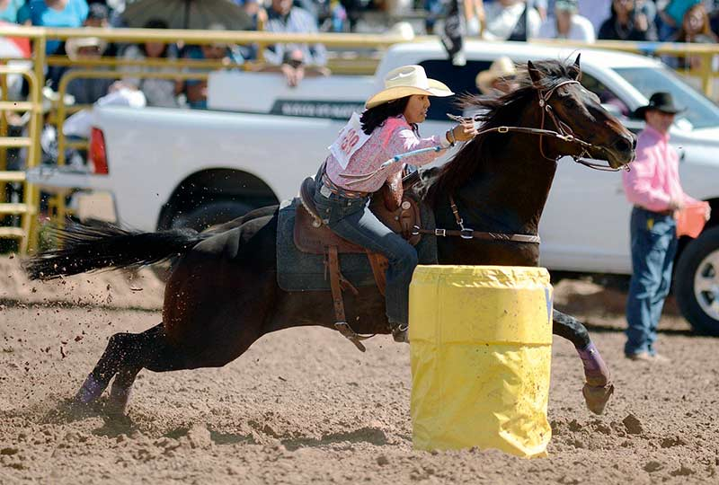 Gilbert cowgirl ropes all-around title