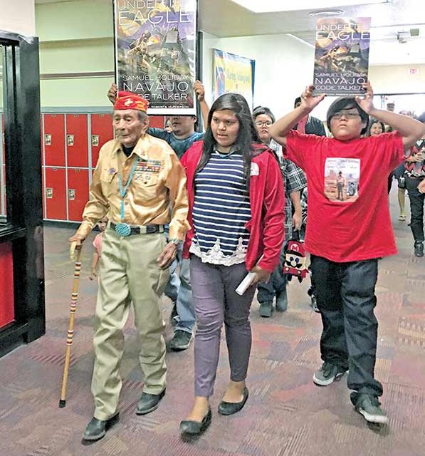 Middle school names library after Code Talker