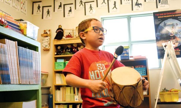 Youngster loves learning Navajo, teaches mom