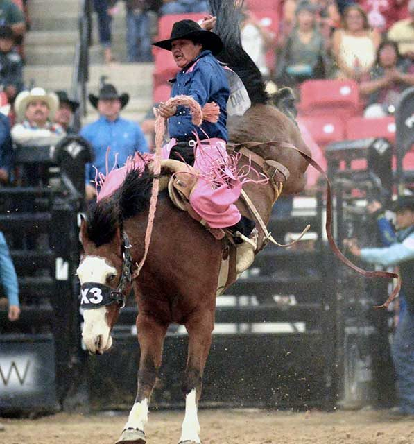 Tohono O'odham cowboy wins INFR in his debut