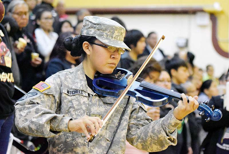 Young violinist gets anthem gig