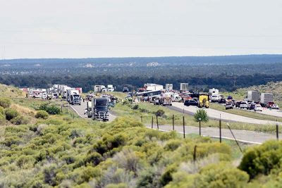Multiple fatalities, injuries reported in Greyhound vs  semi