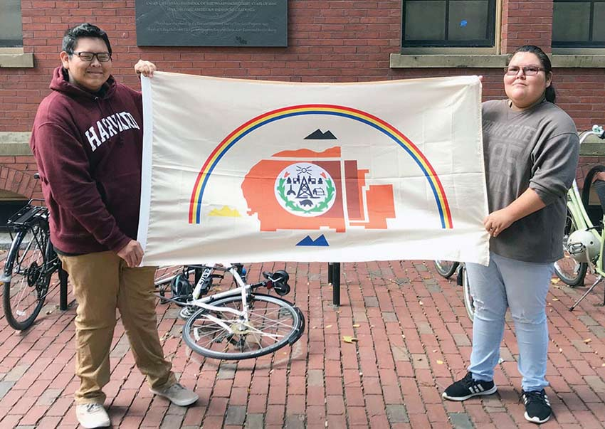 Diné students celebrate Indigenous Peoples' Day in Boston