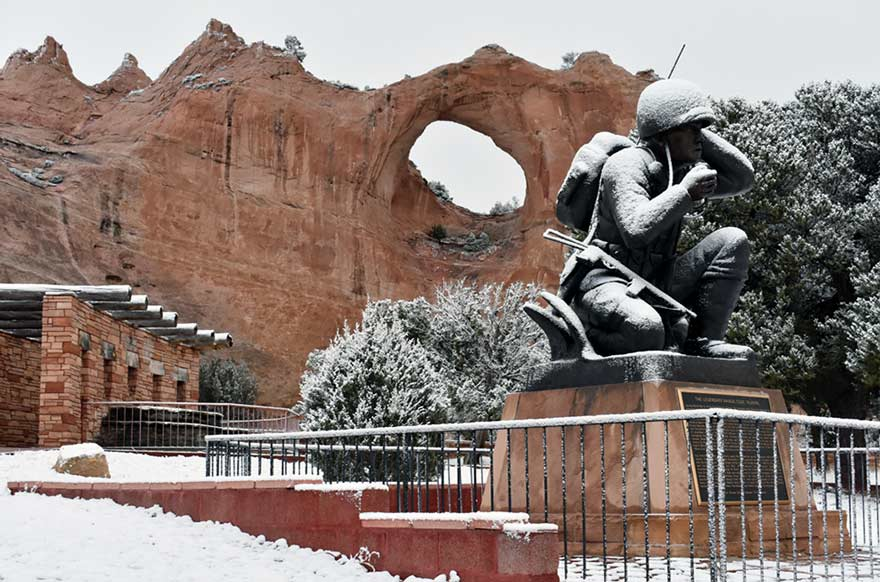 First snow of season blankets Window Rock