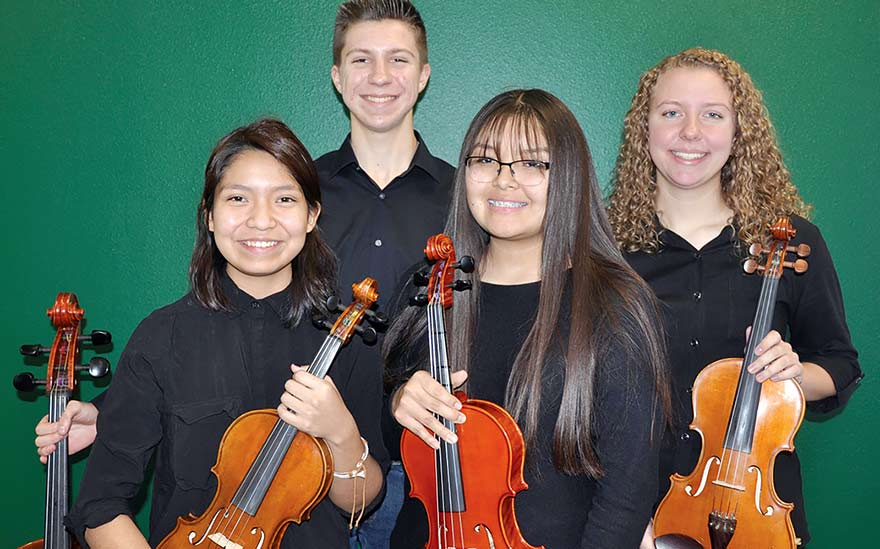 High school string quartet joins 'Beatles vs. Stones'
