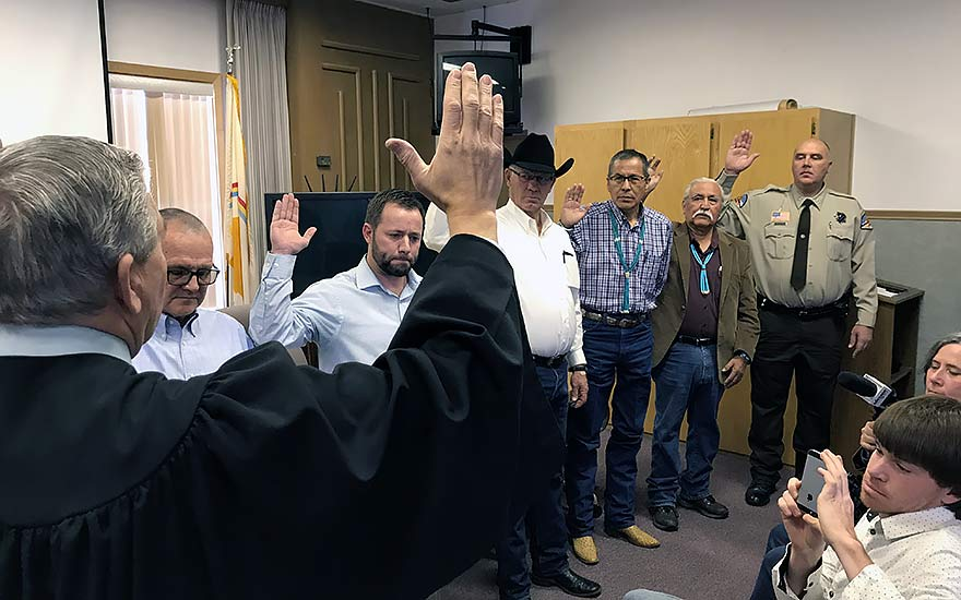 San Juan County's first majority-Navajo commission sworn in