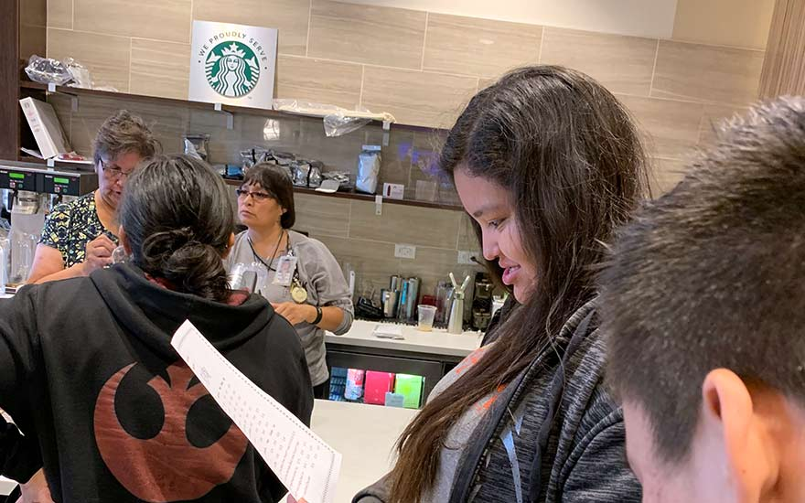 Chinle Starbucks opens to long lines
