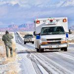 Kayenta police officer uninjured in rollover