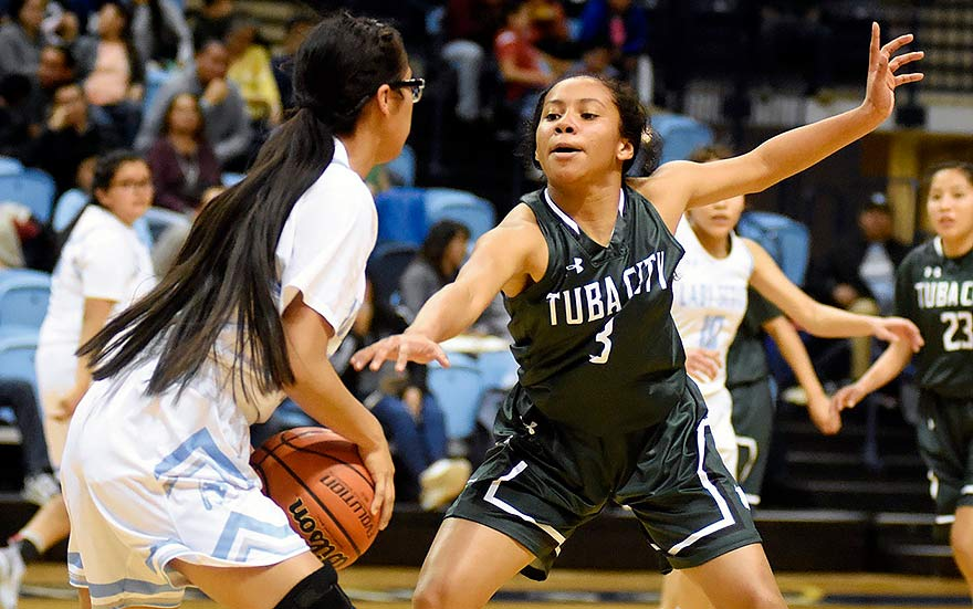 Tuba City guard sparks win over Lady Scouts