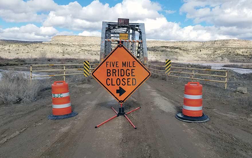 Weekend rains damage Five Mile Bridge