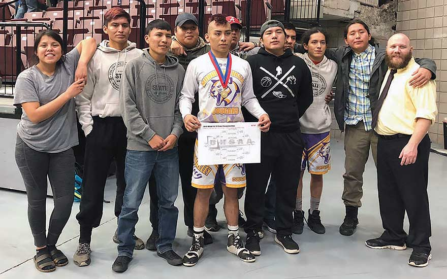 MV's Tsinigine wins Utah 1A state wrestling title