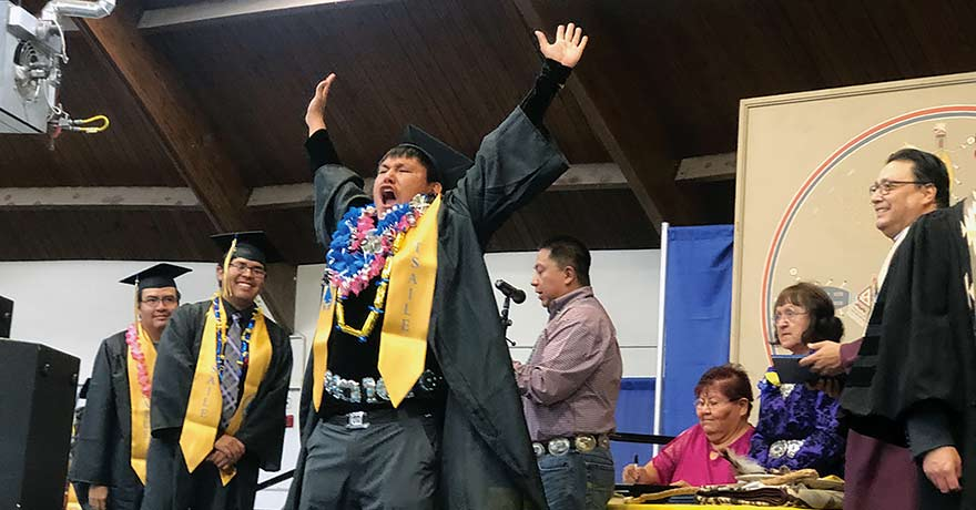 'It's a blessing':  241 students graduate from Diné College