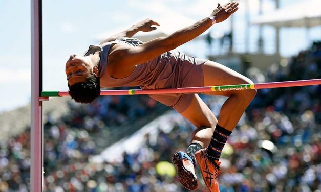 Newton's ability to fly nets 3rd place in high jump