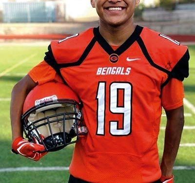 Native all-star football player backed by strong mom