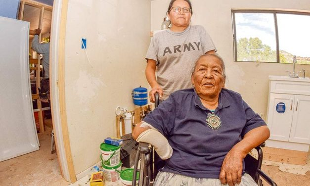 Every last drop counts:  Families in Navajo Mountain receive running water