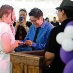 Pride wedding held in shadow of marriage ban