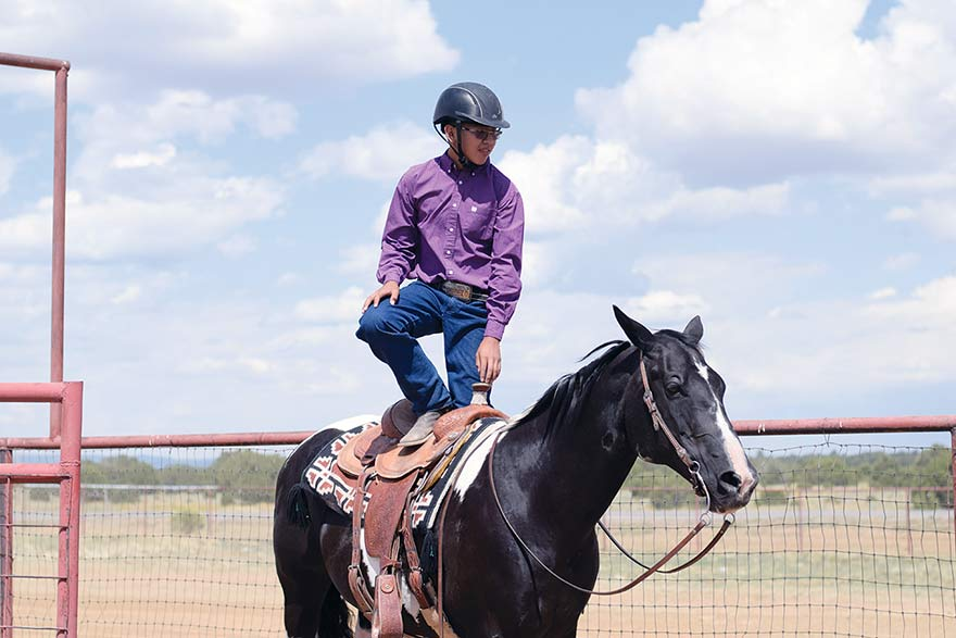 Young horseman spent a year working with his animal