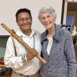 Navajo flutist plays in town where treaty turned up