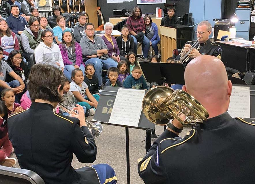 Army band, Chinle High musicians partner to celebrate Grand Canyon centennial