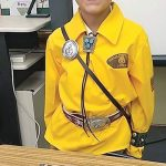 Student portrays code talker at school event