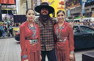 Sisters from Montezuma Creek perform at New York City fashion show