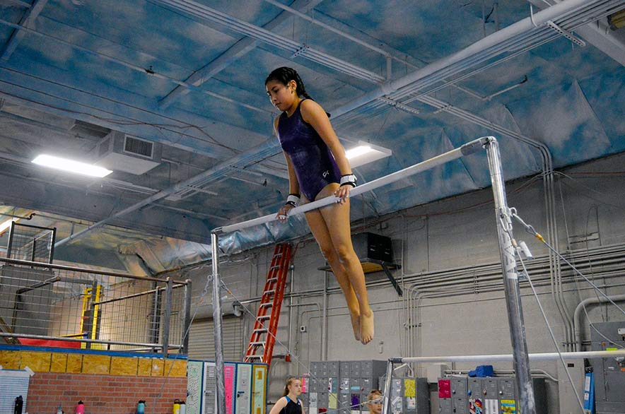 'My little bulldog': Young gymnast embraces sport, demand for practice