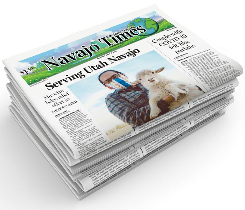 stack of navajo times newspapers