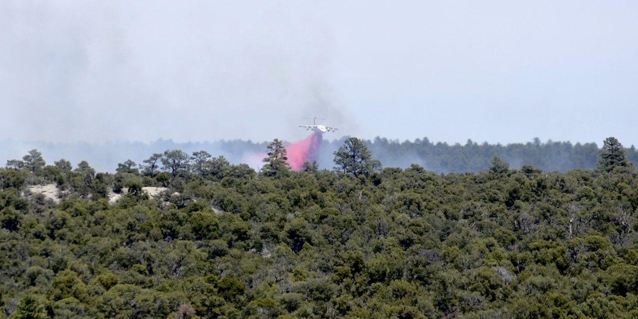 100 acres burning near Summit